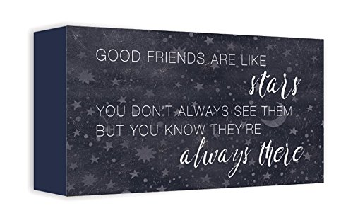 ReLive Decorative Expressions Painted Wooden Box Signs (Good Friends, 5x10)