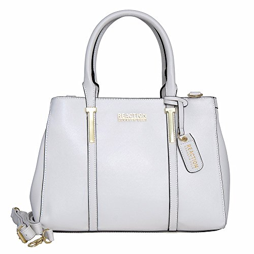 Kenneth Cole Reaction KN1860 Triple Entry Harriet Satchel Handbag (WHITE)