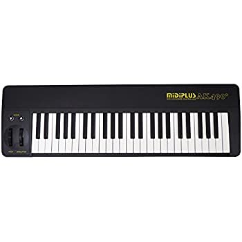 midiplus ak490 black semi weighted usb keyboard controller version musical. Black Bedroom Furniture Sets. Home Design Ideas