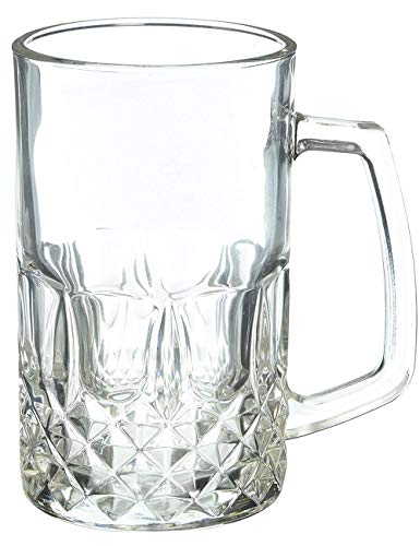 - Momugs 20 Ounces Beer Stein Mugs, German Clear Large Tall Beer Glasses for Men, Set of 2
