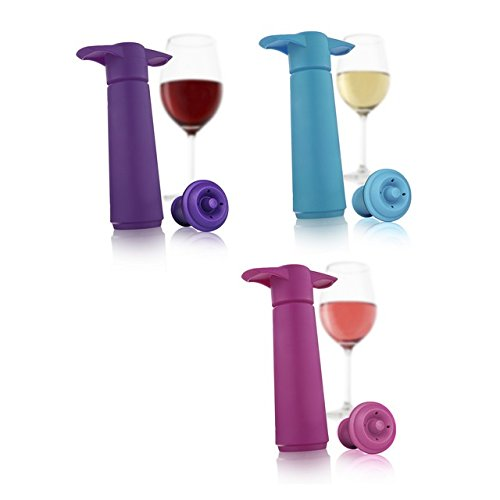 Vacu Vin 0854060 Wine Saver Assorted Colors