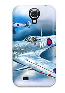 Excellent Galaxy S4 Case Tpu Cover Back Skin Protector Aircraft