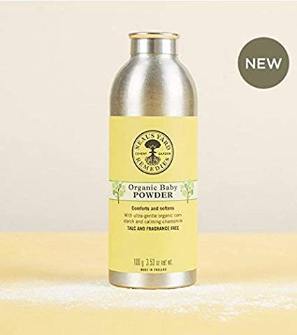 d4e1a9898b86d NEAL'S Yard Remedies Organic Baby Powder 100g - Talc & Fragrance Free  Comforts and Softens Made in England New