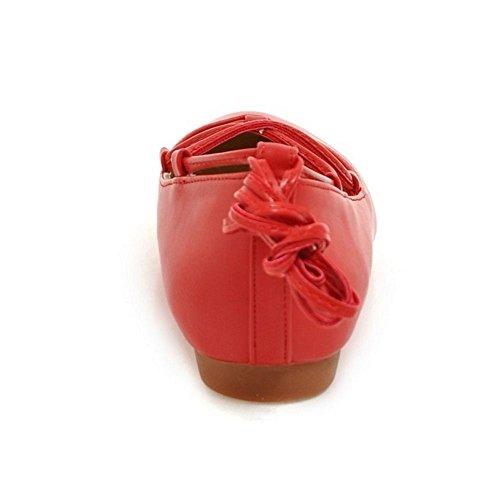 Punainen Coolcept Sitoa Naisten Baletti Kengät Flat Muoti Pumput Mekko t8qrt