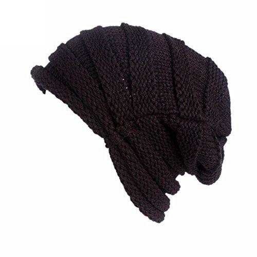 Felt Pie Pork Fur (URIBAKE Women's Winter Wool Knitting Hat Turban Brim Ladies' Hat Cap Pile Cap Crochet)