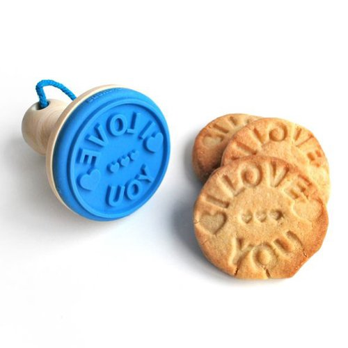 Cookie Stamper - I Love You Stamp - Home Made Cookie Stamper - Stunning Gifts - Biscuit Stamp