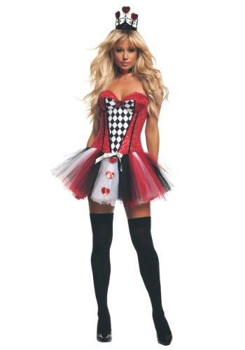 Starline Women's Feisty Queen Of Hearts Sexy Costume Set, Red, Medium - Womens Feisty Queen Of Hearts Costumes