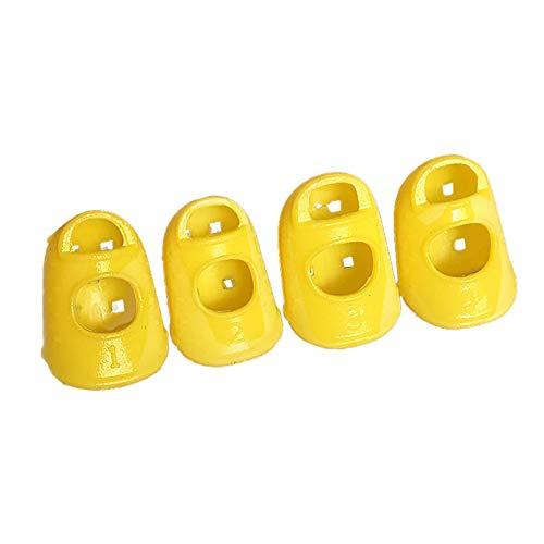 ️ Yu2d ❤️❤️ ️4 PCS Silicone Guitar Thumb Bass Finger Picks Protector Plectrum Anti-Scalding F ()