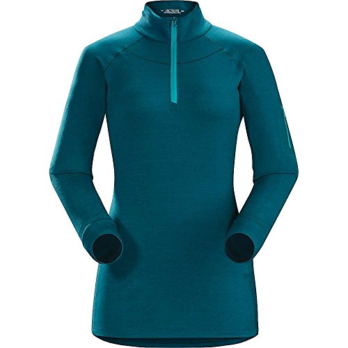Arcteryx Satoro AR Zip Neck LS Top - Women's Oceanus Medium by Arc'teryx (Image #2)