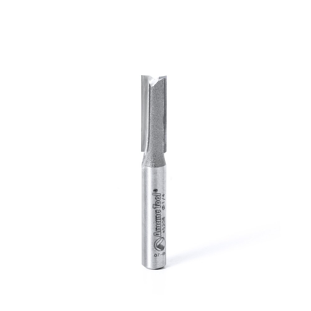 Amana Tool 45208 Carbide Tipped Straight Plunge High Production 1//4 D x 3//4 CH x 1//4 SHK x 2 Inch Long Router Bit