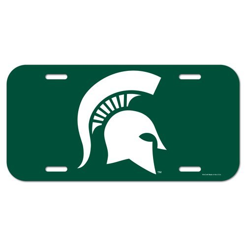 Michigan State Spartans NCAA License Plastic Plate Vanity Car Graphics Sign Tag Officially Licensed NCAA Merchandise Wincraft