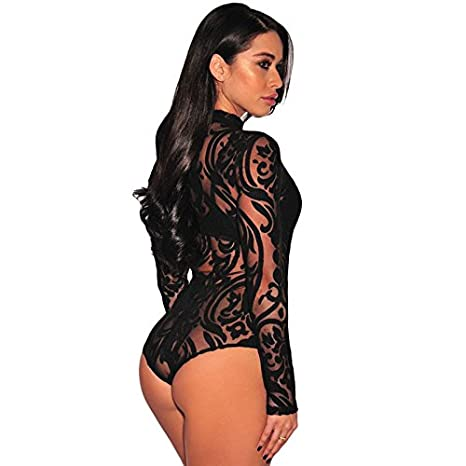 Carolina Dress Bodysuit Vestidos Ropa De Moda Para Mujer De Fiesta y Noche Elegante Negro VE0038 at Amazon Womens Clothing store: