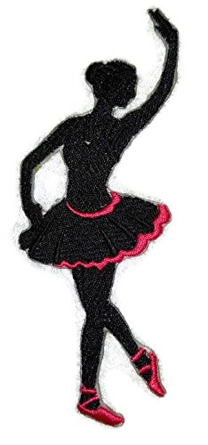 Let's Dance Custom And Unique Embroidered [Ballet Silhouette] Embroidered Iron on/Sew patch [5.5