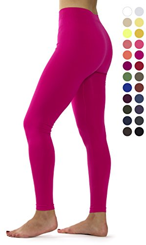 - Ylluo Premium Fleece Lined Leggings Soft Tights (S/M/L (US Size 2-10), Fuchsia)