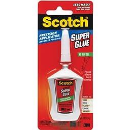 Scotch Super Glue Gel in Precision Applicator, .14 Ounces (AD125)
