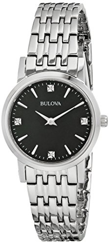 Bulova Women's 96P148 Diamond Gallery Analog Display Japanese Quartz White Watch