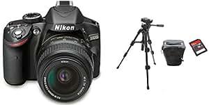 Nikon D3200 DSLR Camera with Nikon 18-55mm Lens + Tripod, Carry Case, and Ultra SD 16 GB Memory Card