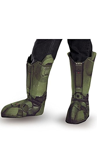 [Halo's Master Chief Adult Boot Covers] (Adult Vintage Witch Costumes)