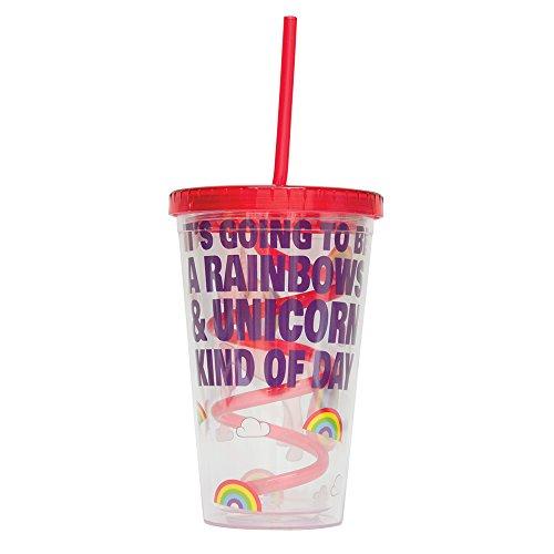 Fizz Creations Unicorn Straw Mug, White, 16 oz (Unicorn Merchandise)