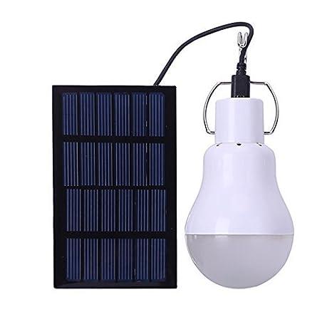 Bombilla LED portátil y solar, Lafagiet, con placa solar de 80 cm, para actividades al aire libre, senderismo, acampada, pesca, cobertizos, lectura