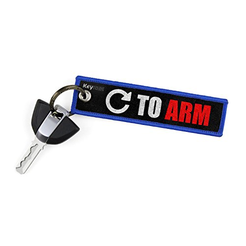 KEYTAILS Keychains, Premium Quality Key Tag for Motorcycle, Car, Scooter, ATV, UTV [Turn to Arm] (Best Quality Motorcycle Chain)