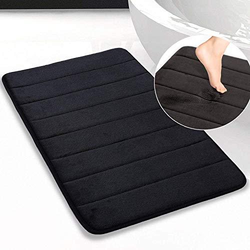 Memory Foam Bath Mat Non Slip Absorbent Super Cozy Velvet Bathroom Rug Carpet Super Water Absorption Bathroom Carpet Non…