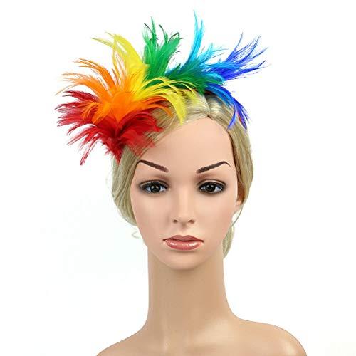 1 pc Roaring Party Headpiece Wedding Headband Headdress Headwear for Women Party (Color - Colorful) - Position Earmuffs