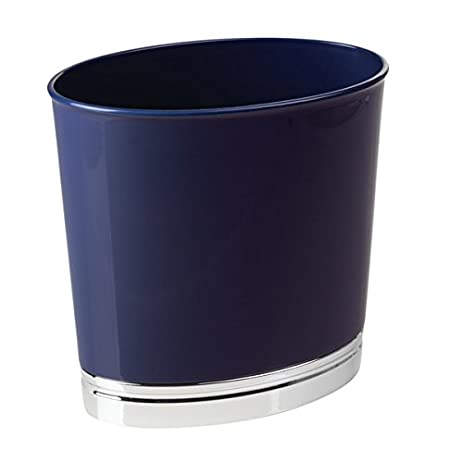 Amazon.com: mDesign Oval Slim Decorative Plastic Small Trash Can ...