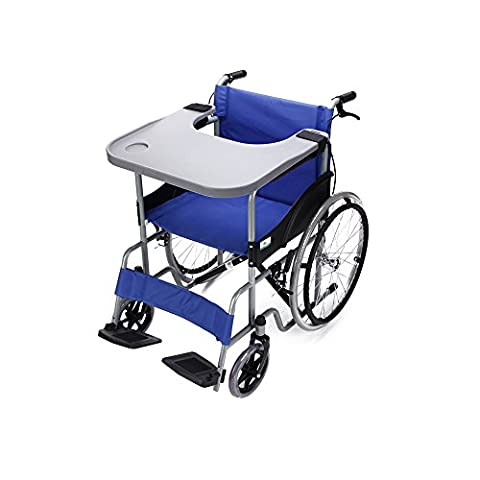 Wheelchair Tray Table with Cup Holder Medical Portable Lap Trays Accessories Child Chair Tray Desk for Eating Snack, Reading - Wheelchair Table