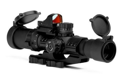 Trinity Force 1-4x28 Assault Series Riflecope,Mil-Dot Reticle