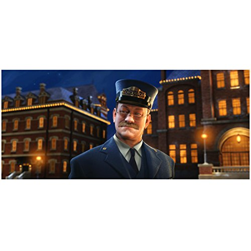 The Polar Express (2004) 8 inch x 10 inch Photograph Conductor w/Buildings in Background kn