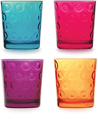 colored beverage glasses - 3