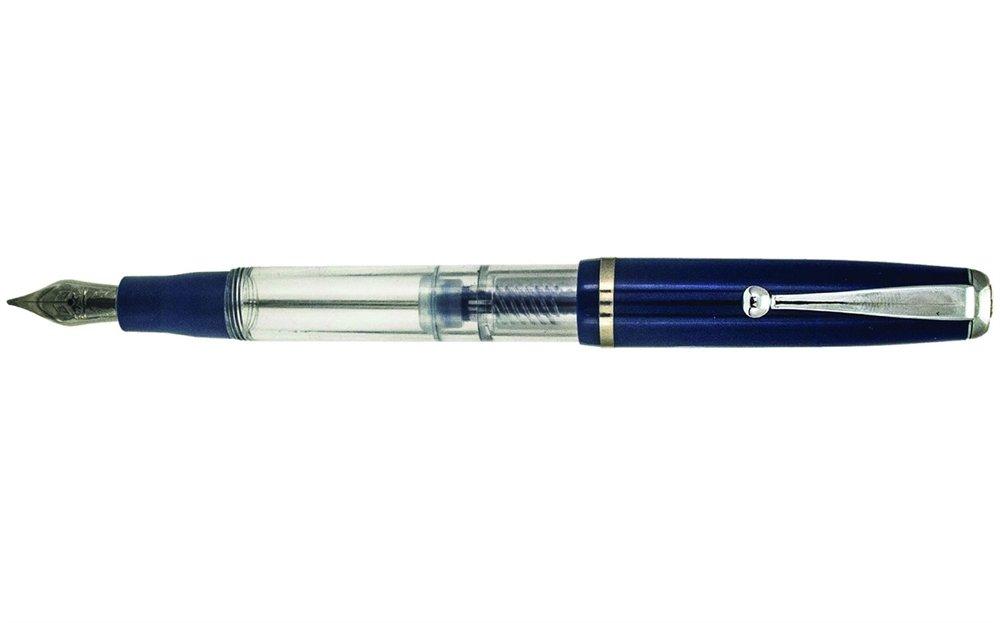 New IN Box Navy Blue Striped /& Chrome Sheaffer Intensity Ballpoint Pen