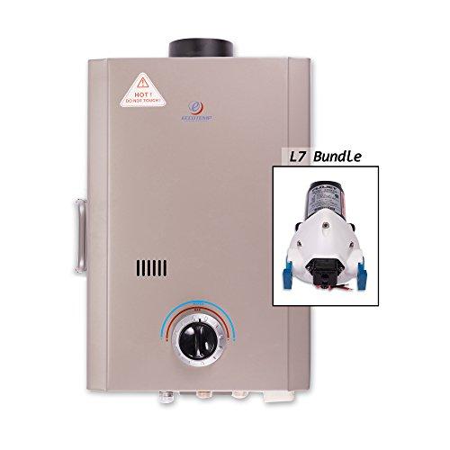 Eccotemp Systems L7 Pump Bundle L7 Tankless Water Heater with Flojet Pump
