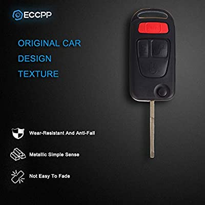 ECCPP Replacement fit for Uncut Keyless Entry Remote Control Car Key Fob Shell Case 94-2005 Mercedes-Benz AMG S500 SL500 SLK230 SLK32 AMG SL600 ML430 NCZMB1K (Pack of 2): Automotive