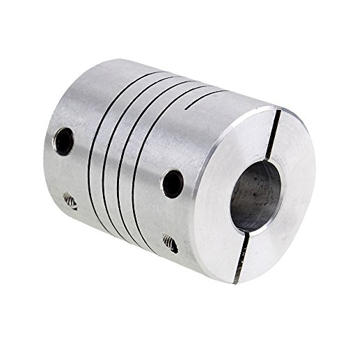 CNBTR 8x10mm Silver CNC Stepper Motor Flexible Shaft Coupling Coupler for Encoder