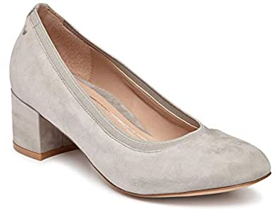 Vionic Women's Olympia Natalie Pumps - Ladies Heels with Concealed Orthotic Arch Support Grey Size: 5