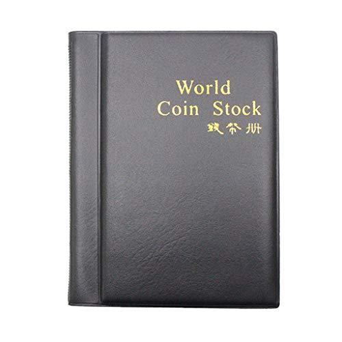 YJYdada Coin Storage Album Book New Collecting 120 Pockets World Coin Collection Storage Holder Money Album Book for Collectors Money Penny Pocket ()