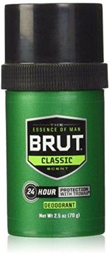 Brut Round Solid Deodorant For Men, 2.5 oz