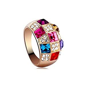 Luxurious rhinestone ring Crystal luxury classic ring