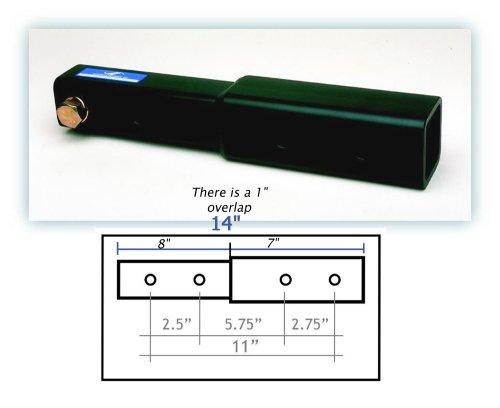 Heininger 6000 Advantage Adjustable 11-Inch Hitch Extension
