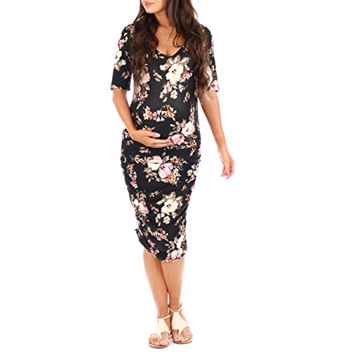 Womens Maternity Ruched Dress - Made in USA