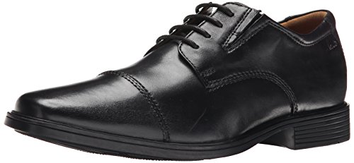 CLARKS Men's Tilden Cap Oxford Shoe,Black Leather,10.5 M US (Clarks Shoe Man)