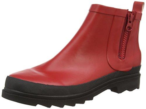 Sanita Fiona Welly - botas de goma forradas y de caño bajo de goma mujer rojo - Rot (Red 4)