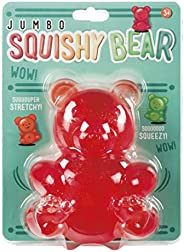 Toysmith Jumbo 5-1/2 inch Squishy Stretchy Bear, Assorted Colors