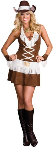 Dreamgirl Women's Howdy Partner Costume,Brown,Small