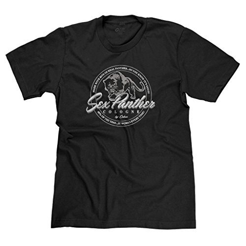 FreshRags Sex Panther Cologne Funny Anchorman Parody Men's T-shirt XL Black 366