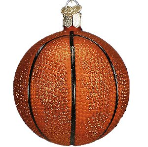 Old World Christmas Ornaments: Basketball Glass Blown Ornaments