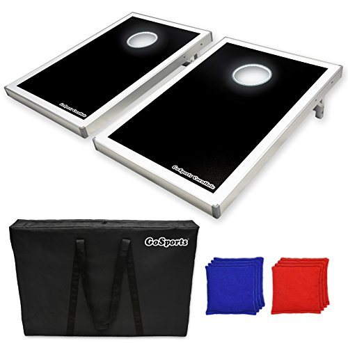 Tailgate Toss Bean Bag (GoSports LED Light Up Cornhole Set, Tailgate Size)