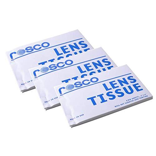 Rosco Lens Tissue 4''x6'' 100 Sheet Booklet - Pack of 3 by Rosco